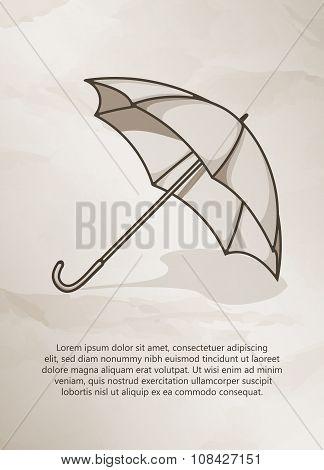 Retro umbrella.