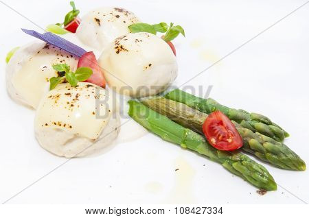 meatballs with asparagus