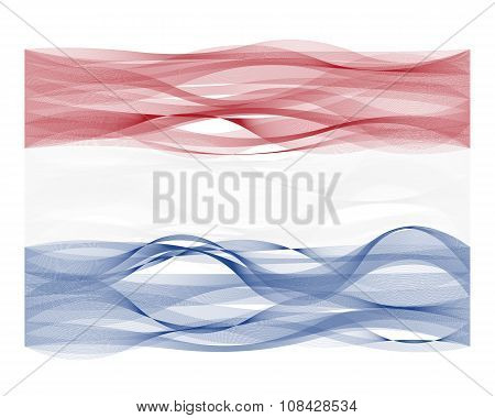 Wave line flag of the Netherlands