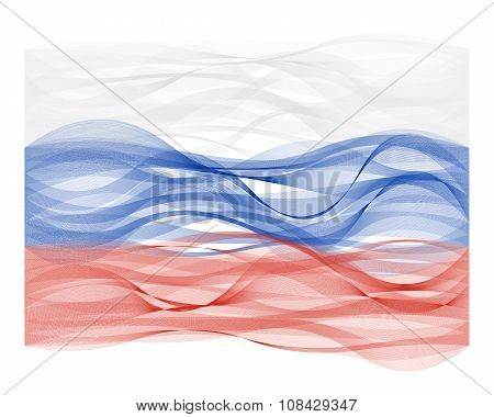Wave line flag of Russia
