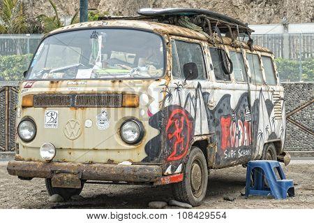 Rusty Volkswagen Van
