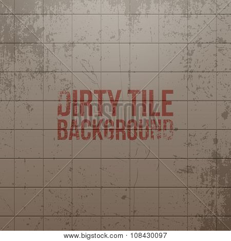 Realistic vector dirty Tile Wall Background