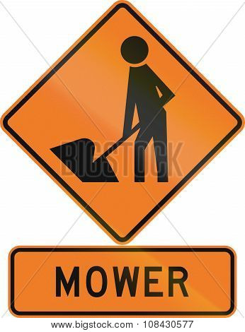 Road Sign Assembly In New Zealand - Mower