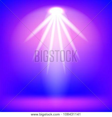 Pink Stage Spotlight Background