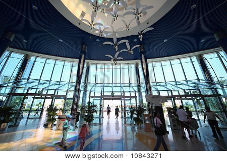Entrance Inside Large Shopping Center In Marina Mall On April 15, 2010