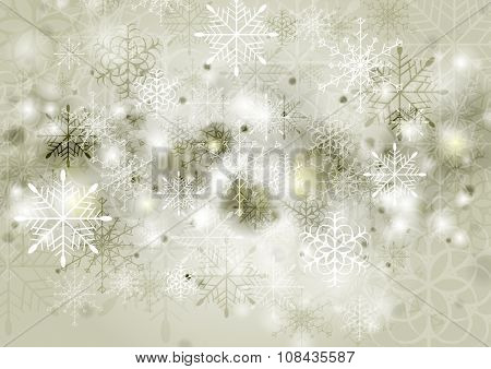 Abstract sepia greeting Christmas background. Vector illustration