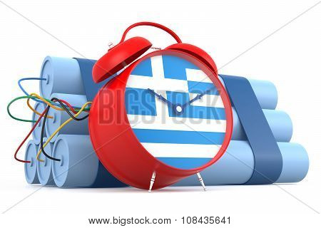 Time Bomb With Greek Flag