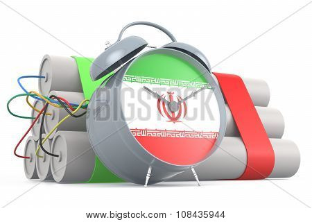 Time Bomb With Iranian Flag