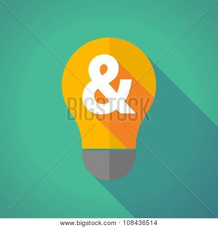 Long Shadow Vector Light Bulb With An Ampersand