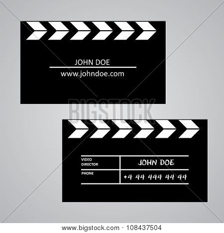 Slate Board Business Card Template