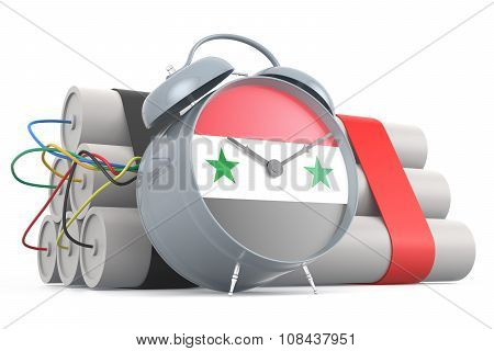 Time Bomb With Syrian Flag