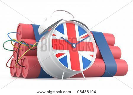 Time Bomb With U.k. Flag