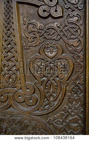 Lower part of the wooden door of the cross