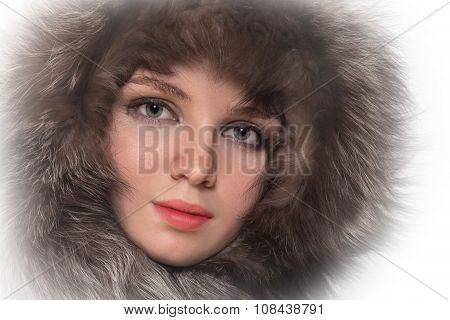 Woman In Fur Hood