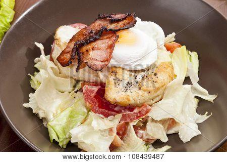 Caesar Salad With Grilled Chicken Breast