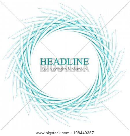 Abstract scratchy turquoise logo on white. Vector background