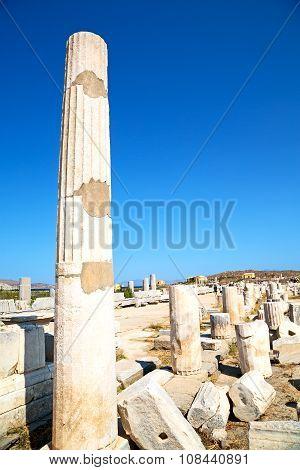 Archeology  In Delos Greece  Acropolis  Ruin Site