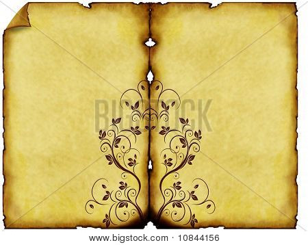 old paper background with ornaments