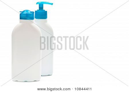Bottles Isolated On White