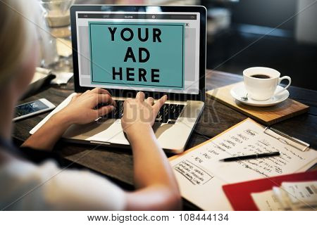 Advertising Browsing Commerce Communication Connection Concept