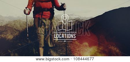Locations Traveling Destination Navigation Vacation Concept