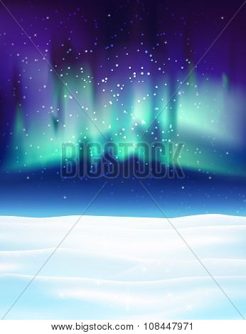 Northern lights background vector illustration.