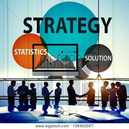Strategy Solution Tactics Statistics Growth Concept