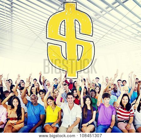 Dollar Sign Currency Meeting Seminar Concept
