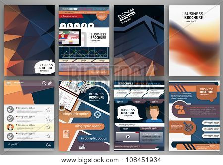 Brochure Template Concept Infographics And Icons