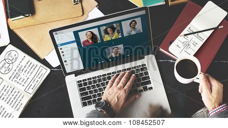 Video Call Face-time Chatting Communication Concept