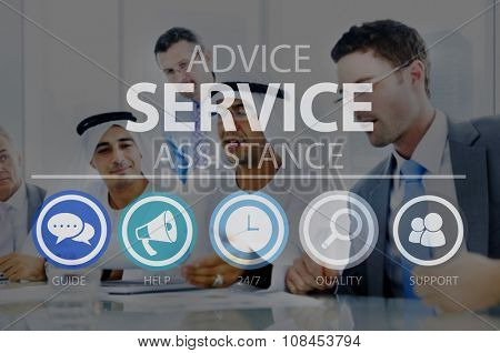 Advice Service Assistance Consultant Support Help Concept