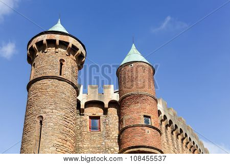 Castle of Montmelas in Beaujolais, France
