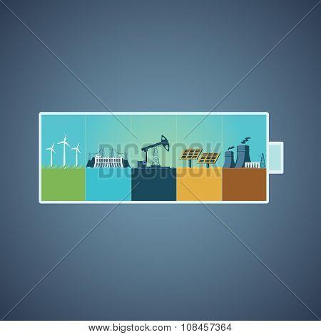 Energy recources concept