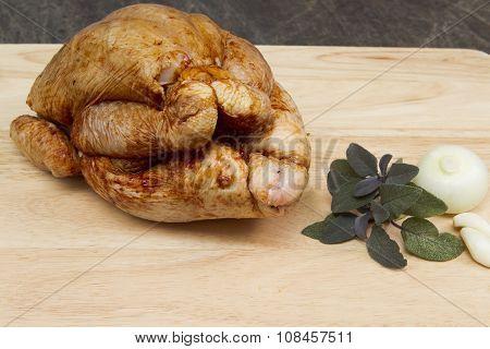 Raw whole chicken