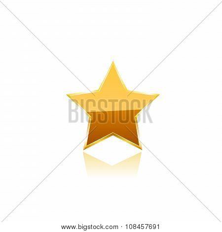 Gold star vector.