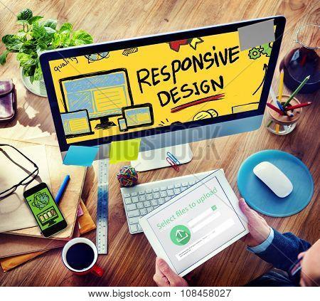 Responsive Design Responsive Quality Analytics Concept