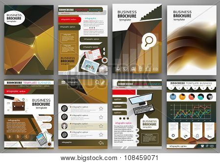 Business Brochure Template, Abstract Concept Infographics And Icons