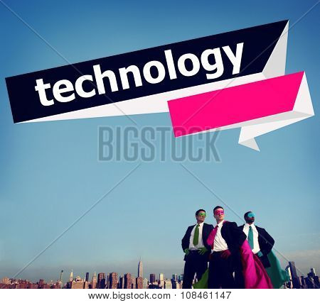 Technology Internet Business People Hero Development Planning Global Concept