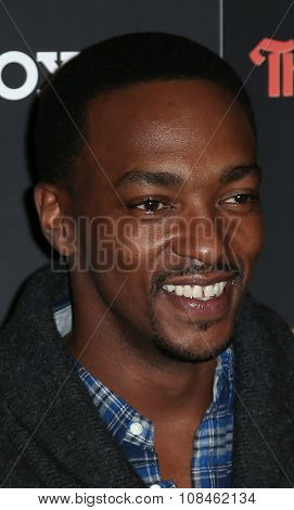 NEW YORK-NOV 16: Actor Anthony Mackie attends the New York Red Carpet screening of Columbia Pictures'