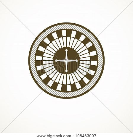 Roulette wheel logo, casino vector illustration
