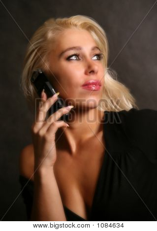 Beautiful Woman With The Phone