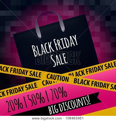 Black friday sale poster design.