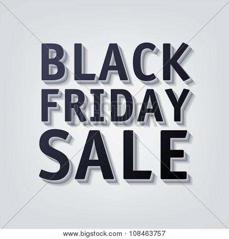 Black friday sale vector illustration.