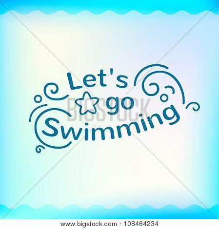 Summer sign, retro typography, sea and beach logo