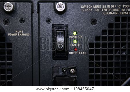 Power Switch Of Server
