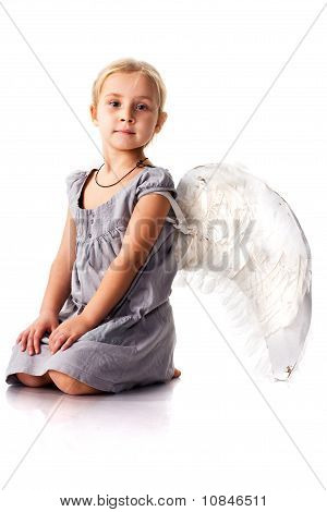 Beautiful Girl With Angel Wings
