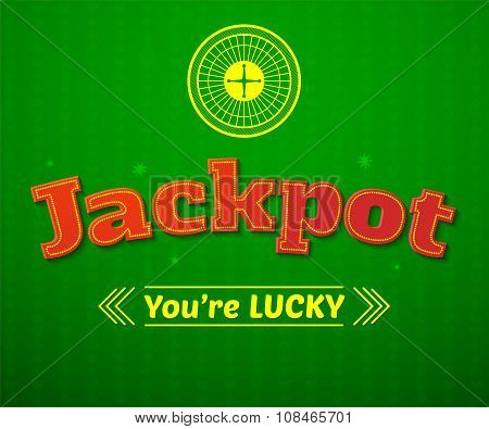 Jackpot logo, game vector illustration