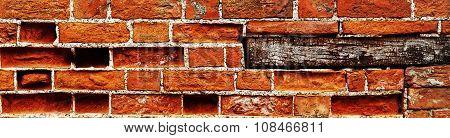 Brick Wall Panorama.