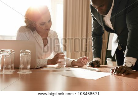 Businesspeople Working On New Business Idea