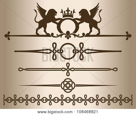 Decorative elements - Griffins.